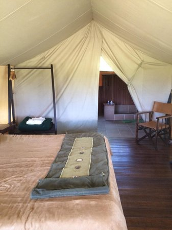Little Governors' Camp : Inside tent -- large bed
