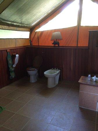 Little Governorsu0027 C& Inside tent -- toilet bidet shower & Inside tent -- toilet bidet shower - Picture of Little Governors ...