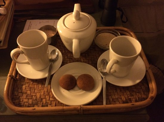 Little Governors' Camp: Wakeup call hot chocolate and biscuits