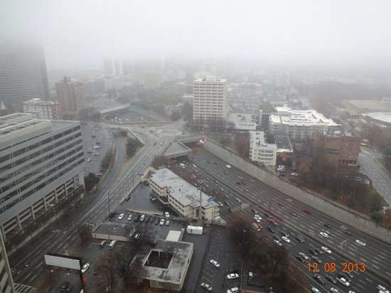 Hilton Atlanta: View from room 2817 on a rainy day