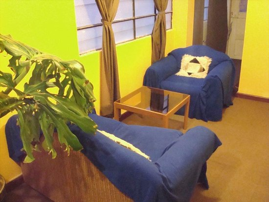 Tayka Hostel: living rooms