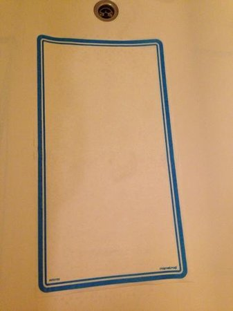 "Citadines Saint-Germain-des-Pres Paris: The thin piece of anti-slip ""paper"" for the shower."