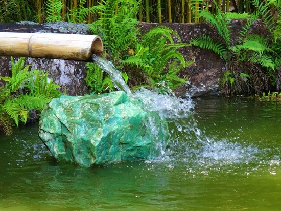 bamboo water feature   crystal castle