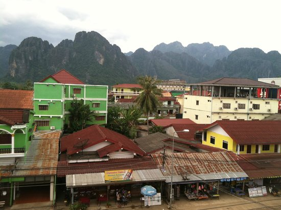 Vang Vieng Central Backpackers: Balcony View