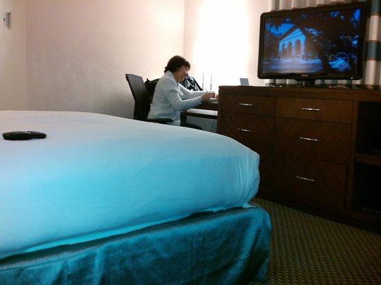 Hilton Miami Downtown: habitacion, escritorio + cajonera o chiffonier