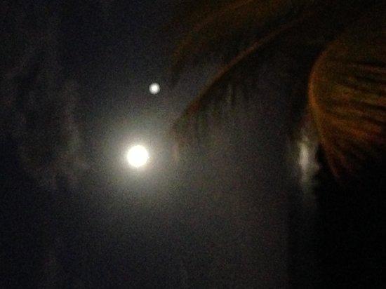 Parador Costa del Mar: full moon from the room