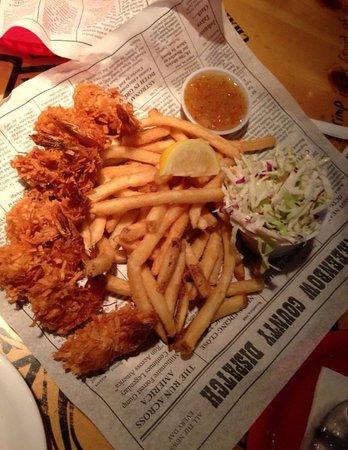 Bubba Gump Shrimp Co.: Camarão empanado