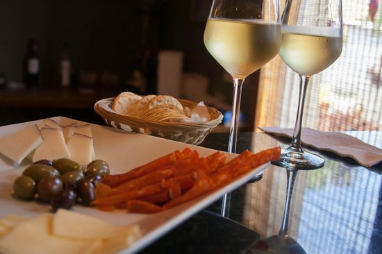 Wine de Vine: Meat, cheese, and olive platter with wine tasting