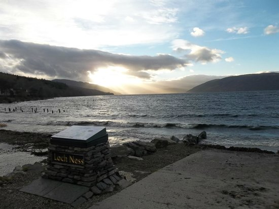 Inverness Bike Hire: Sunset over Loch Ness from Dores Beach (9/12/13)