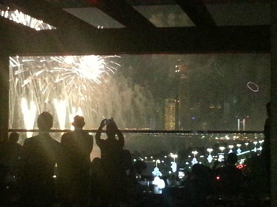 The St. Regis Abu Dhabi: National Day fireworks..view from Azura