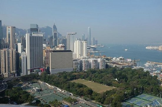 Metropark Hotel Causeway Bay Hong Kong: rooftop view