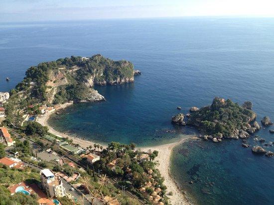 Hotel Isola Bella: Вид из окна