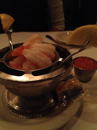 St. Elmo Steak House : Famous shrimp cocktail, sauce on the side