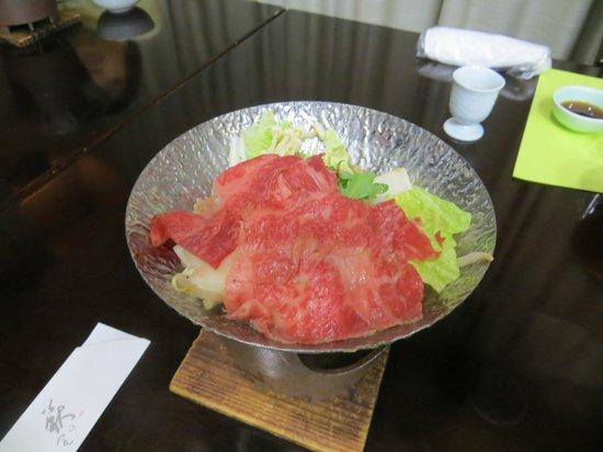 Takayama Kanko Hotel: Hida beef shabu shabu
