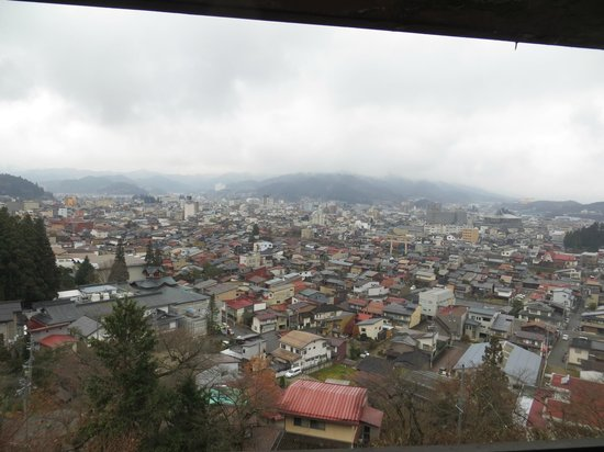 Takayama Kanko Hotel: View from our room
