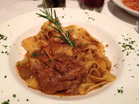 Italianissimo Trattoria: Egg noodle pasta with wild boar.