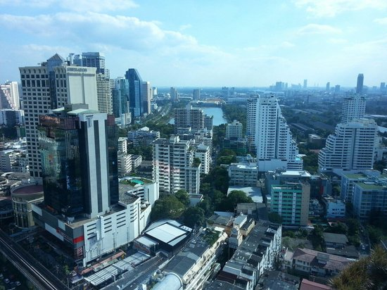 Sofitel Bangkok Sukhumvit: A Bangkok City view from our suite on 29th floor.