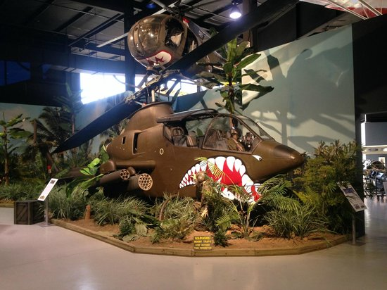 Southern Museum of Flight: Vietnam War U.S. AH-1 and OH-6 helicopters