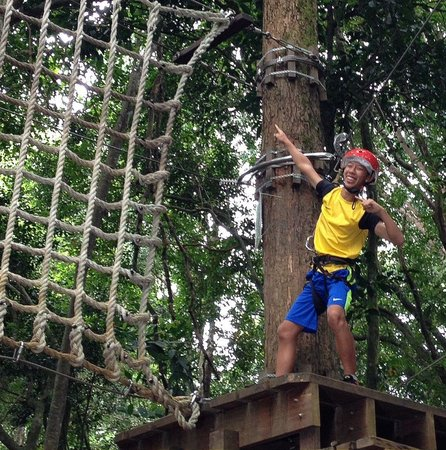 Club Med Cherating Beach: Thrilling Tree Top Climbing !! Sons had so much fun in Cherating !