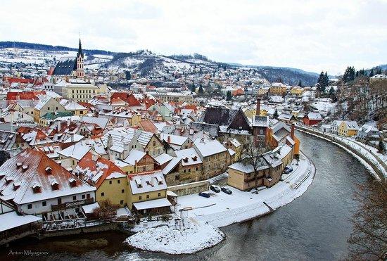Historic Center of Cesky Krumlov : Крумлов в снегу