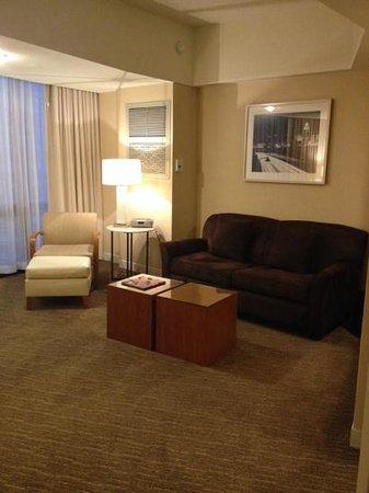 The Westin Bonaventure Hotel & Suites: Tower Suite living room