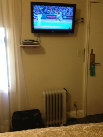 Inn at the Opera: The TV --the only modern thing in the room