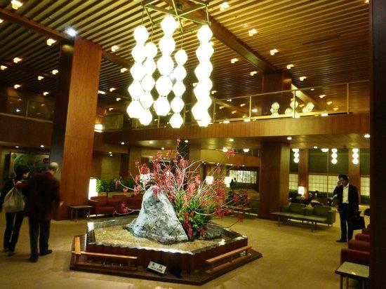 Hotel Okura Tokyo : 和風のロビー