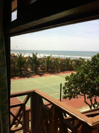 Afia Beach Hotel: From the Hut !