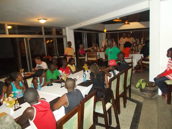 Kenya Bay Beach Hotel: Birth day at dinning hall