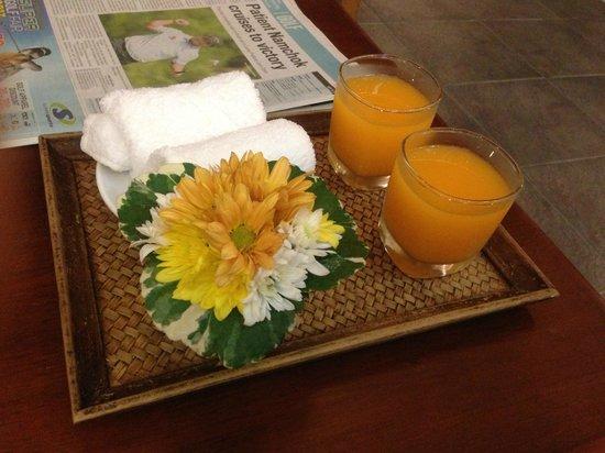 Bandara Resort & Spa: Welcome Drinks