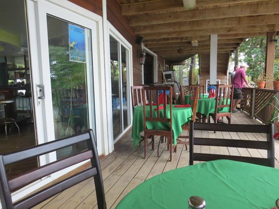 The Sunset Grill: Deck Dining Area
