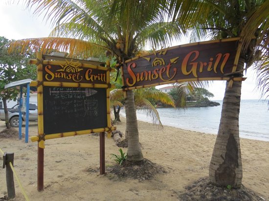 The Sunset Grill: Sign by the Main West End Road