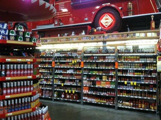 Jungle Jim's International Market : Hot sauce section
