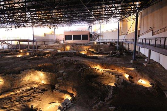 Museo y Parque Arqueologico Cueva Pintada : Vista general de la excavación
