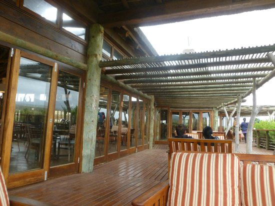 Garden Route Game Lodge : The Terrace of the Game Lodge Dining area