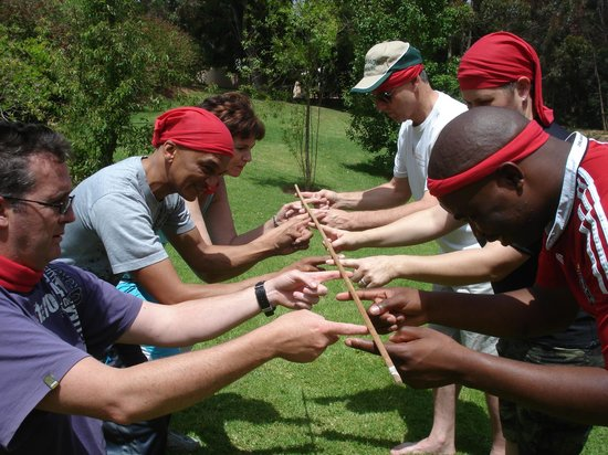 Tri Active Lodge: Flying the flag high during teambuilding!