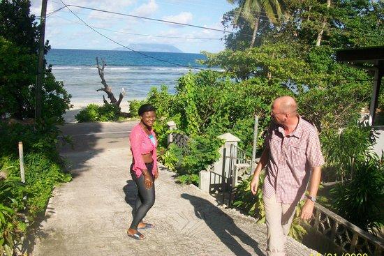 The Beach House: a snap of Eden Island