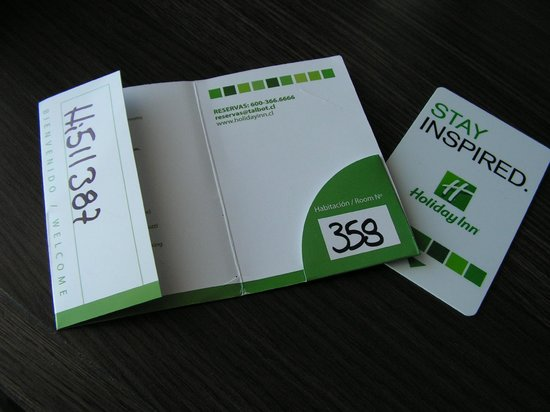 Holiday Inn Santiago Airport: Room number what??? 353  or 358