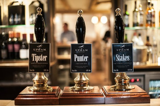 The White Hart: Some of the Ales on offer
