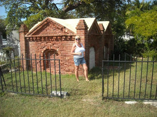Jenny in the Key West Cemetery