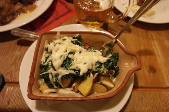 Provaznice: Potatoes, spinach and chili