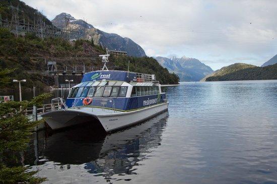 Doubtful Sound Cruise -Day Tours: Lake Manapouri cruise boat