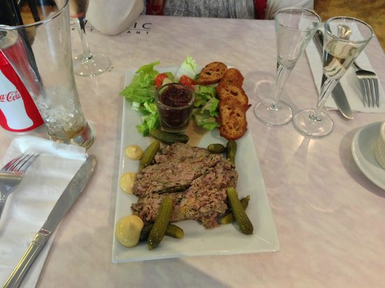 Appetizer of pate