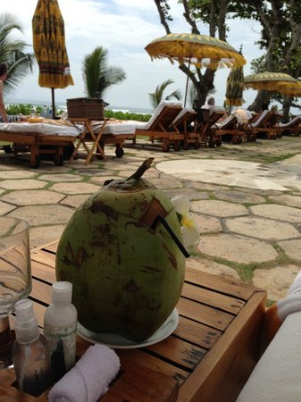 The Oberoi Bali : by the pool