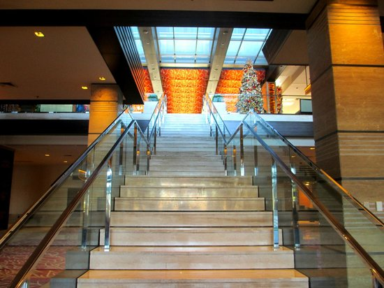 M Resort Spa Casino: Stairs leading to the main floor from the winery.