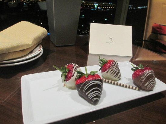 M Resort Spa Casino: Welcoming gesture.