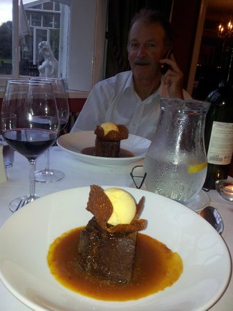 Hall Garth Hotel & Country Club : Sticky toffe pudding
