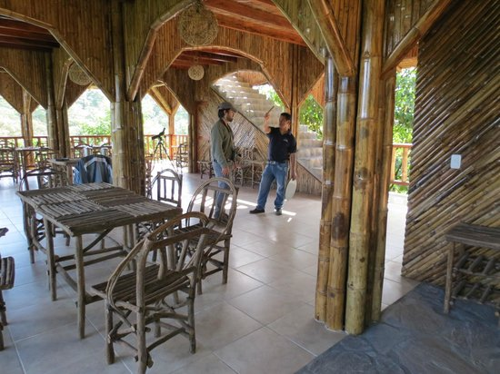 San Jorge de Milpe Eco-Lodge Orchid & Bird Reserve : Dining Hall & Observaton Deck
