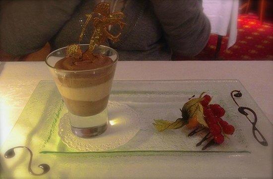 Hôtel et Restaurant Hamiot : Duo de mousse au chocolat