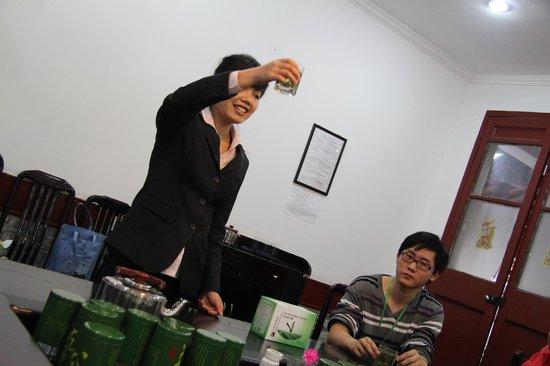 Hangzhou Longjingshan Tea Cultural Village : Чайная церемония